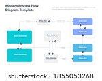 modern process flow diagram... | Shutterstock .eps vector #1855053268