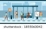 people characters wearing... | Shutterstock .eps vector #1855063042