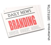 newspaper branding | Shutterstock . vector #185512736
