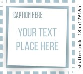 paper square sticker on... | Shutterstock .eps vector #1855129165