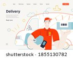 business topics   shipping  web ... | Shutterstock .eps vector #1855130782