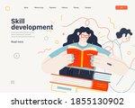 business topics   advance... | Shutterstock .eps vector #1855130902