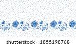 vintage blue antique porcelain...   Shutterstock .eps vector #1855198768