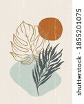 botanical print boho minimalist ... | Shutterstock .eps vector #1855201075