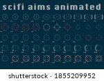 animated scifi target aim...   Shutterstock .eps vector #1855209952