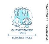 cultivate diverse teams concept ...   Shutterstock .eps vector #1855233982