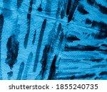 Pattern Stripes. Turquoise Kid...