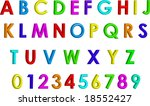 Colorful  3 D Alphabet And...