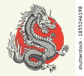 aggressive japanese fantasy... | Shutterstock .eps vector #1855246198