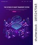 future of smart transport... | Shutterstock .eps vector #1855247065
