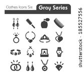 clothes icons gray series six | Shutterstock .eps vector #185527556
