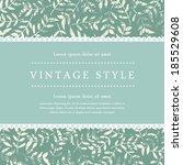 vector beautiful template frame ... | Shutterstock .eps vector #185529608