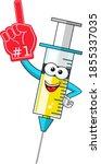 smiling cartoon character... | Shutterstock .eps vector #1855337035