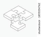 puzzle icon design  vector... | Shutterstock .eps vector #1855354762