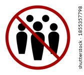 social distancing avoid crowds... | Shutterstock .eps vector #1855357798