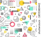 geometric seamless pattern  ...   Shutterstock .eps vector #1855380442