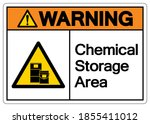 warning chemical storage area... | Shutterstock .eps vector #1855411012