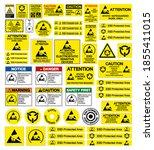 set of electrostatic sensitive... | Shutterstock .eps vector #1855411015