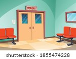 in front of the emergency room...   Shutterstock .eps vector #1855474228