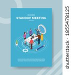 stand up meeting people...   Shutterstock .eps vector #1855478125