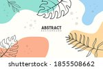 abstract tropical leaves... | Shutterstock .eps vector #1855508662