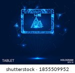 the hologram tablet. a tablet... | Shutterstock .eps vector #1855509952