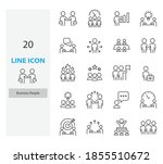 set of people thin line icons ... | Shutterstock .eps vector #1855510672
