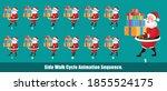 christmas santa claus walk... | Shutterstock .eps vector #1855524175