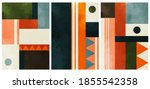 a set of three colorful...   Shutterstock .eps vector #1855542358