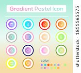 gradien icon pack with pastel...