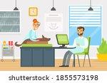 veterinary clinic medical... | Shutterstock .eps vector #1855573198