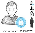 vector net user lock. geometric ... | Shutterstock .eps vector #1855606975