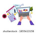 finance audit or budget... | Shutterstock .eps vector #1855613158
