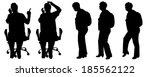 vector silhouette of a woman on ... | Shutterstock .eps vector #185562122