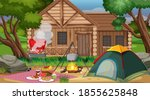 camping or picnic in the nature ... | Shutterstock .eps vector #1855625848