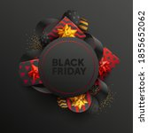 black friday sale banner with... | Shutterstock .eps vector #1855652062