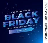 modern black friday sale banner ... | Shutterstock .eps vector #1855659778