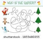 winter maze for children.... | Shutterstock .eps vector #1855680355