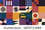mid century geometric abstract...   Shutterstock .eps vector #1855711885