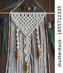 handmade wooden wall hanging... | Shutterstock . vector #1855712335