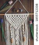 handmade wooden wall hanging... | Shutterstock . vector #1855712338