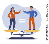man and woman accepting the... | Shutterstock .eps vector #1855726732