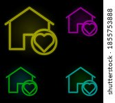 home protection neon color set...