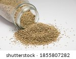 Sesame With Glass Jar  Isolated ...