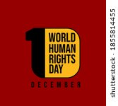 world human rights day with... | Shutterstock .eps vector #1855814455