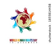 world human rights day with... | Shutterstock .eps vector #1855814458
