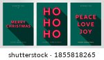christmas card design template. ... | Shutterstock .eps vector #1855818265