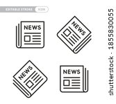 four newspaper icon set.... | Shutterstock .eps vector #1855830055