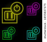 electrical outlet neon color...