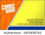 retro comic background halftone ...   Shutterstock .eps vector #1855858765
